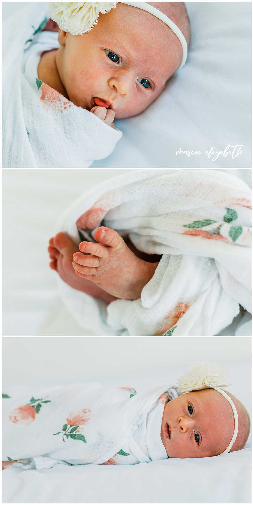 This newborn pictures session was shot at the White Space Studio in Provo, UT. I love the airyness of this studio space and would definitely go back. | Gilbert, AZ Photographer | Maren Elizabeth Photography