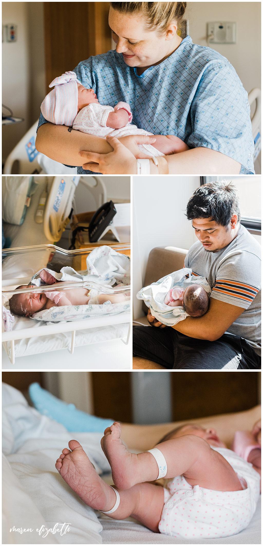 Fresh 48 pictures at American Fork Hospital in Utah | Fresh 48 Photographer | Arizona Photographer | Maren Elizabeth Photography