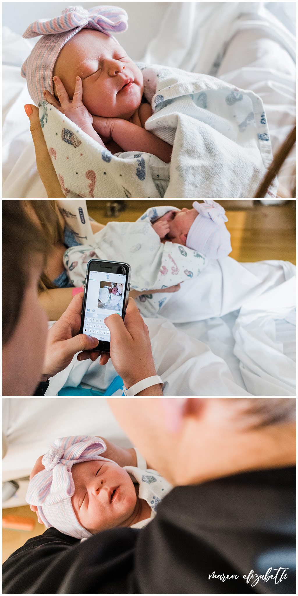 Fresh 48 Pictures at American Fork Hospital in Utah minutes after Baby M's birth. Maren Elizabeth Photography | Arizona Photographer.