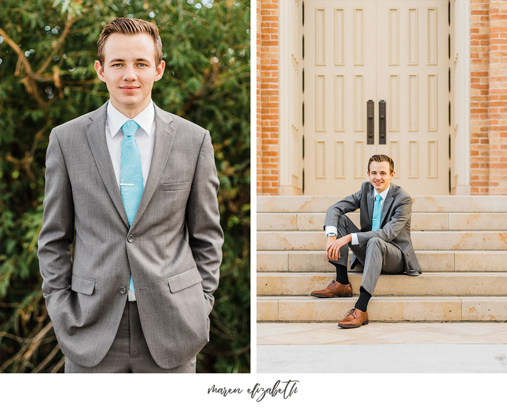 Elder missionary pictures at the Provo City Center Temple in Provo, UT. Arizona Photographer | Maren Elizabeth Photography