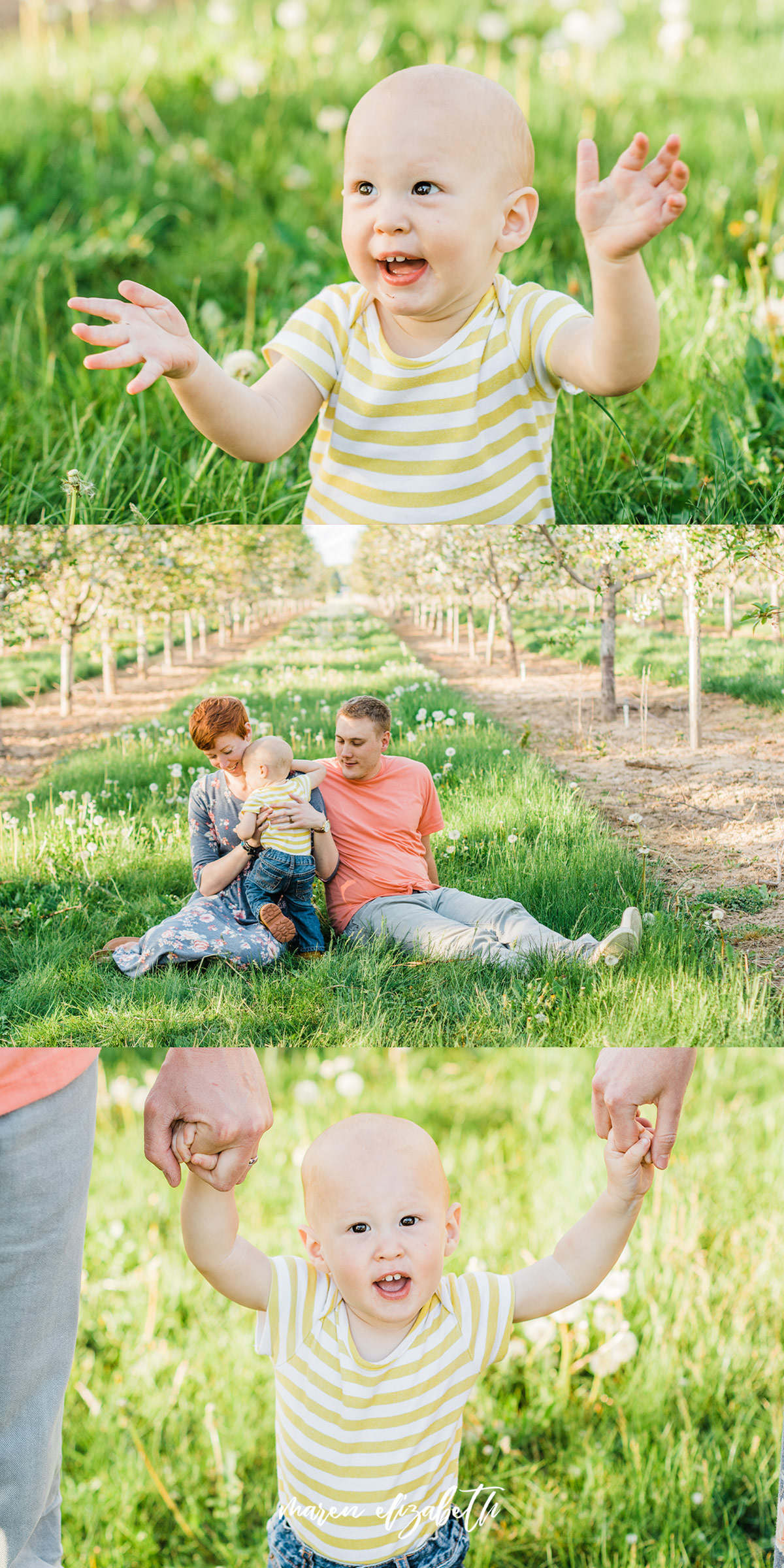 Spring family pictures in the blossoms at Rowley's Red Barn in Santaquin, UT   Maren Elizabeth Photography   Arizona Photographer