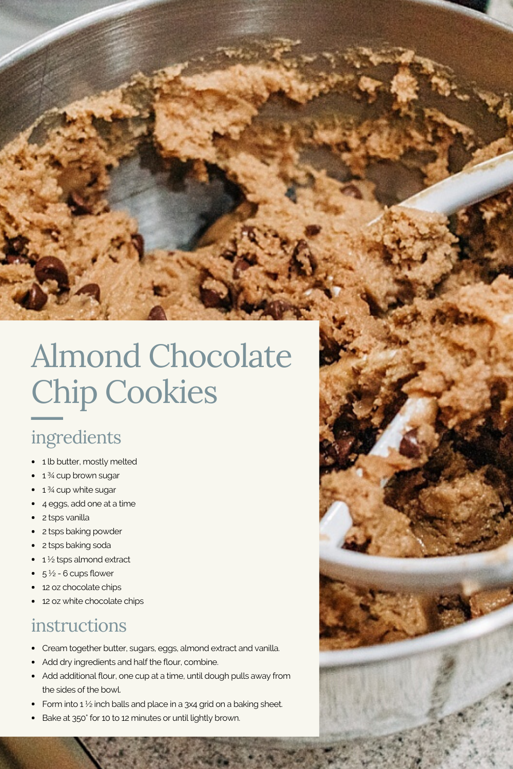 Almond Chocolate Chips Cookies | AKA The Yummiest Cookies EVER